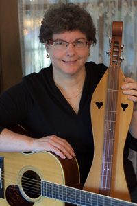 Diane with Guitar and Dulcimer